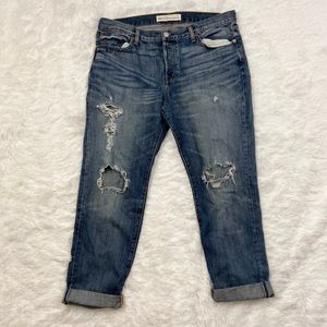 Gap Relaxed Distressed Boyfriend Jeans